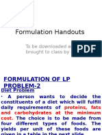 Or Formulation Handouts