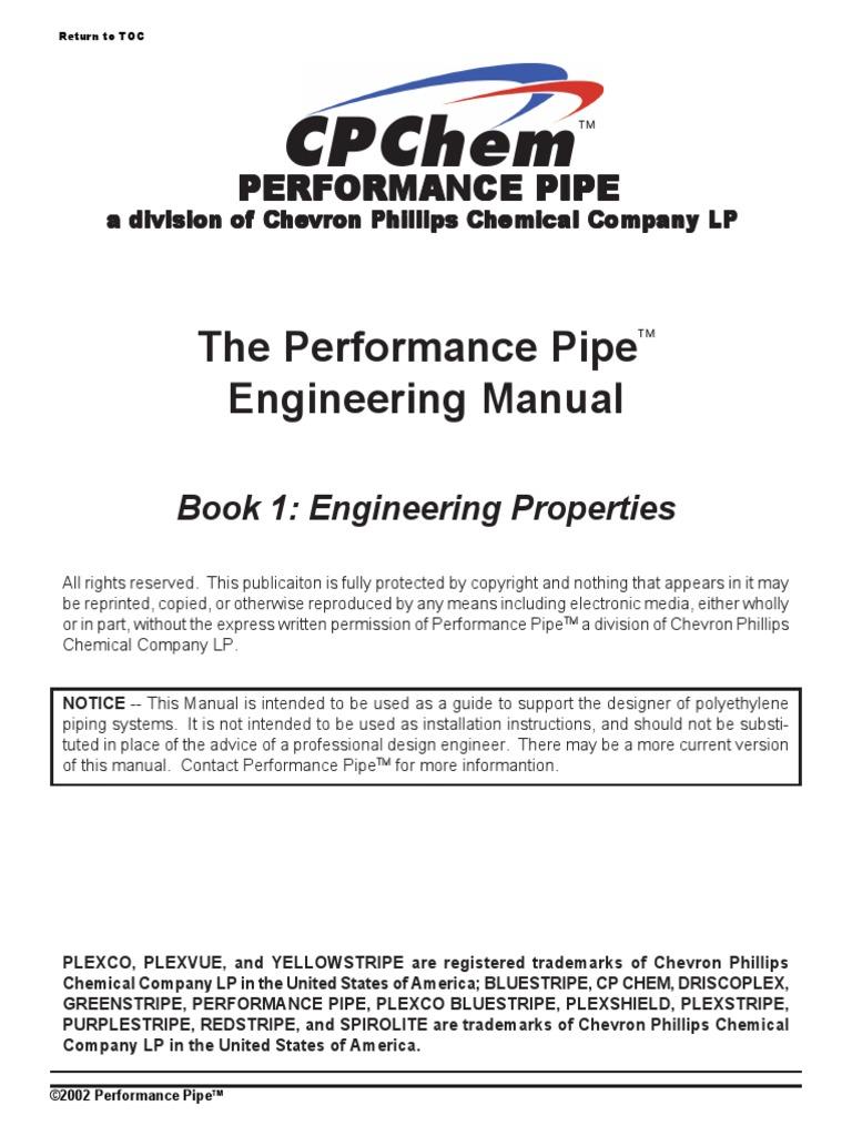 148020103-The-Performance-Pipe-Engineering-Manual pdf | Polyethylene