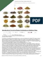 Introducción Al Uso de Las Plantas Occidentales en Medicina China