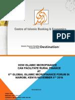 Alhuda cibe -How Islamic Microfinance Can Facilitate Rural Finance