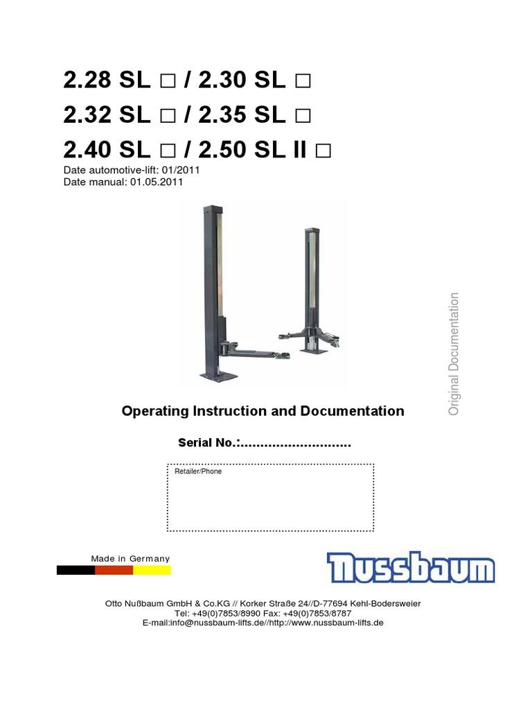 manual tecnico nussbaum 2 28 sl until 2 50 sl ii 05 2011 e rh scribd com