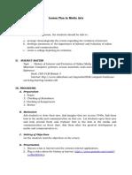 Lesson Plan in Media Arts-Internet History