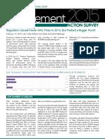 ACAMS AnnualEnforcementActionSurvey2015 WEB