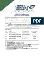 Abdul Ghani Shahzaib CV 2016