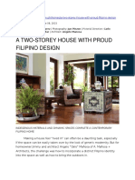 A Two-storey House With Proud Filipino Design