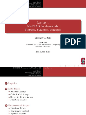 lec01 (1) | Matlab | Parameter (Computer Programming)
