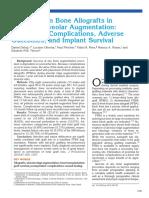 Fresh-Frozen Bone Allografts in Maxillary Alveolar Augmentation