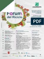 Forum Del Riciclo Programma