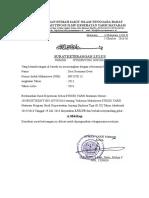 Surat Keterangan Yayasan Rumah Sakit Islam Tenggara Barat