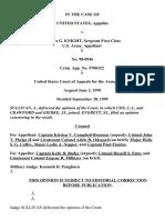 United States v. Knight, C.A.A.F. (1999)