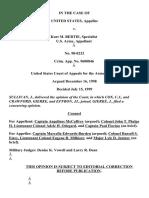 United States v. Bertie, C.A.A.F. (1999)