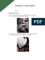 Procedimiento y Resultados de Kmk y Pan de Yema