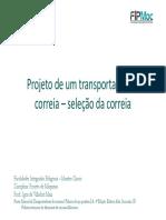 Projeto de Máquinas - 09 - Transp. de Correia - Seleção Da Correia