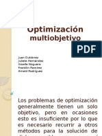 Optimización Multi-objetivo