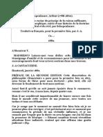 000 Schopenhauer De la quadruple racine du principe de raison suffisante.doc