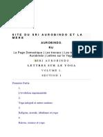 Shri Aurobindo - Lettres sur le Yoga TOME 01.doc