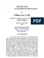Carr William Guy - Les Plans de La Synagogue de Satan
