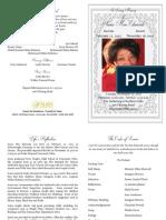 Anna Mae Edwards Funeral Program