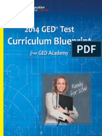 GED Curriculum Blueprint