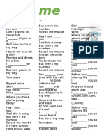 Call Me Maybe Past Cont vs Past Simple