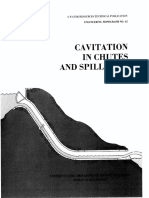 Cavitation in Chouts and Spillways