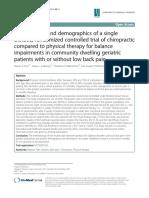 Methodology Demographics Single Blinded Chiro_PT RCT Geriatric Balance LBP-Enix_2014