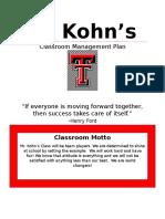 classroom mgmt plan