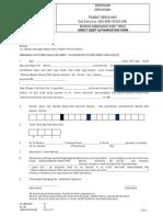 92225 Direct Debit Form