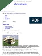 Qualidade No Projeto de Arquitetura _ Premium – Engenharia Inteligente