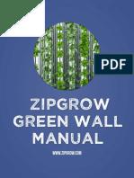 ZipGrow GreenWall Manual 5.7