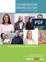 Tobacco Prevention and Control in Utah 2016 Annual Report