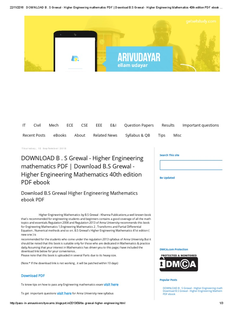 Download b s grewal higher engineering mathematics pdf download b s grewal higher engineering mathematics pdf download bpdf e books technology fandeluxe Image collections