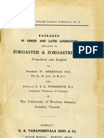 Passages in Greek and Latin Literature Relating to Zoroaster and Zoroastrianism