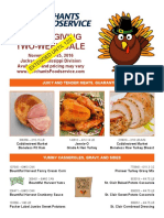 Thanksgiving Circular for Jackson Customers