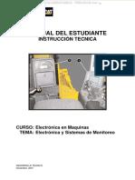 Manual Electronica Sistemas Monitoreo Maquinaria Caterpillar Arranque Componentes Electronicos Esquema Electrico