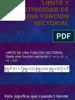 Limite y Continuidad de Una Función Vectorial