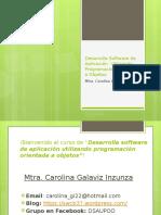 Desarrolla software de aplicación mediante POO