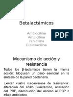 Medicamentos 2, Betalactamicos, Cefalosporinas y Carbapenemes