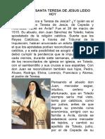CAMINO DE SANTA TERESA DE JESUS LEIDO HOY.pdf