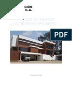 ANALISIS Condominio San Isidro