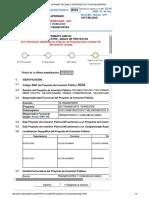 Intranet Del Banco de Proyectos - Ficha de Registro