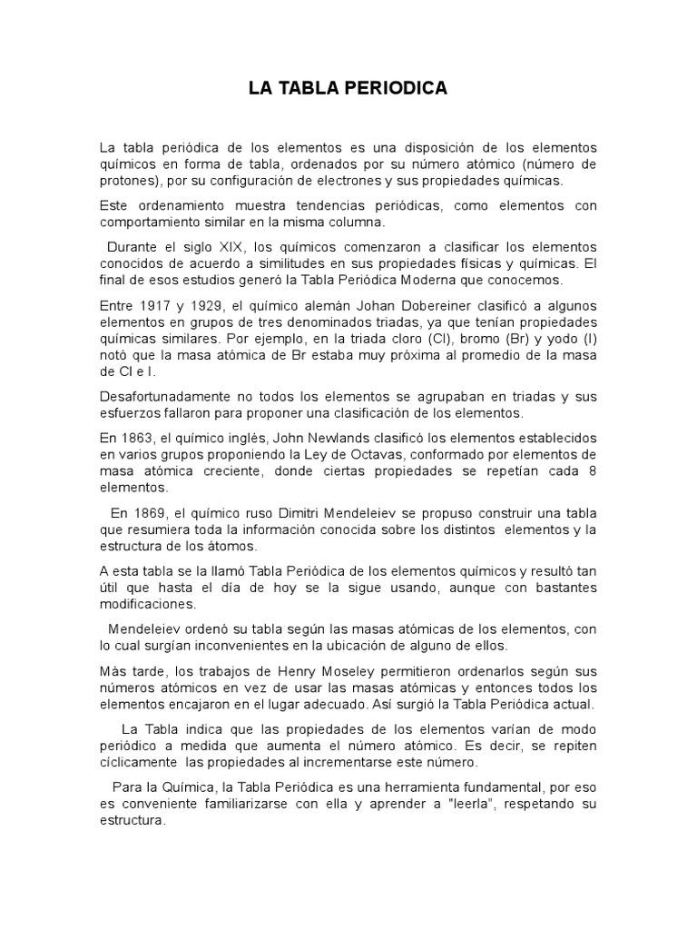 1526391185v1 - Tabla Periodica De Los Elementos Como Usar