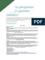 Nuestros Programas Radiales