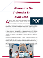 Testimonios de Violencia en Ayacucho
