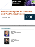Understanding new EU Guidance on DPIA/PIA requirements | TRUSTe Webinar