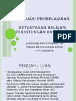 Perhitungan SKBM KKM