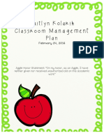 classroom management plan- part 1