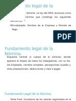Fundamento Legal de La Nómina