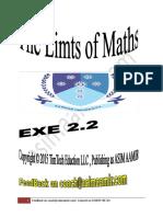 The Limts Maths ... EXE 2.2