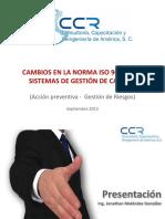 ISO9001 2008 VS 2015